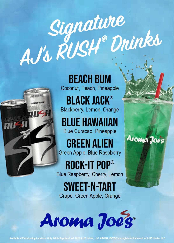 AJ's Rush® Signature Flavors